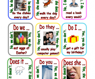 Go Fish - Activating Card Game Practicing Present Simple Questions