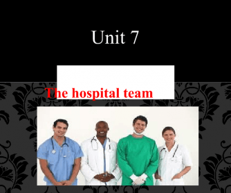 English For Nursing 1 - Unit 7 - PowerPoint