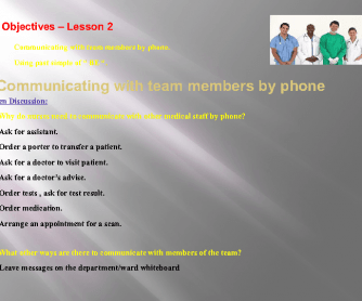 English For Nursing 1 - Unit 7 - PowerPoint / Part 2