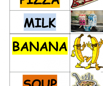 Food Word Matching