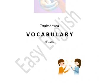 Summary of Basic Topical Vocabulary
