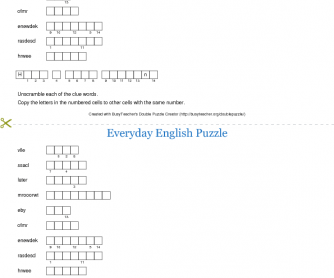 Everyday English Puzzle