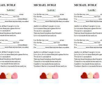 Song Worksheet: L.O.V.E. by Michael Buble