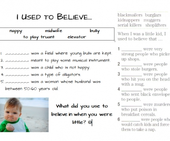 I Used to Believe (Kids' Wrong Definitions of Things)