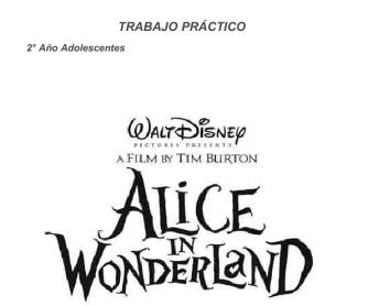 Movie Worksheet: Alice in Wonderland