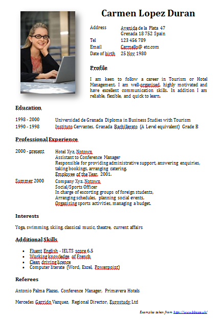 sample of resume for teachers