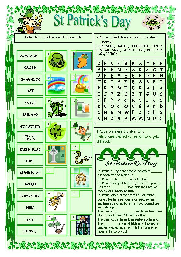 461e7b3d 40 FREE Saint Patrick's Day Worksheets