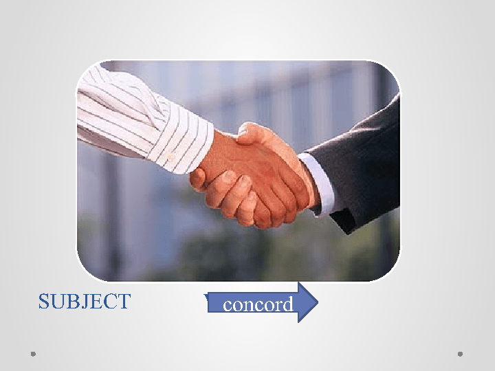 Subject Verb Agreement Concord