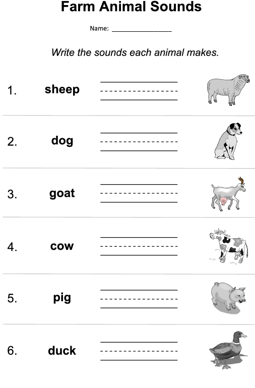 farm animal sounds worksheet. Black Bedroom Furniture Sets. Home Design Ideas