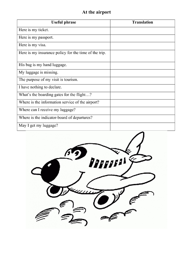 19411 At The Airport Worksheet Vocabulary on Transcription And Translation Coloring Worksheet