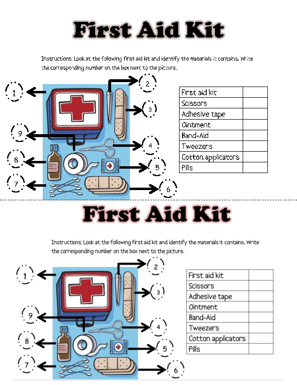 {76 FREE Emergency Worksheets – First Aid Worksheet