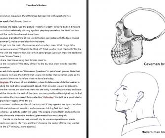 The Story of Man. Cavemen & Modern Men