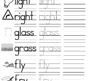 Beginning Phonics and Writing: L and R Minimal Pairs