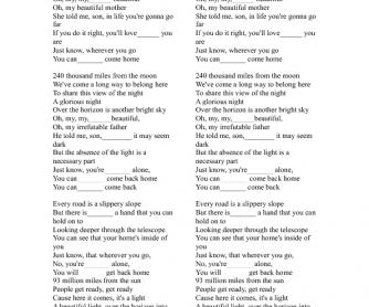 Song Worksheet: 93 Miles by Jason Mraz