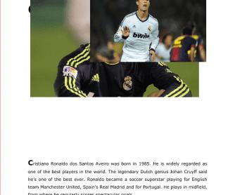 Read about Cristiano Ronaldo