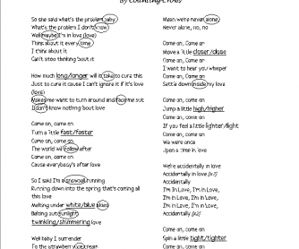 Song Worksheet: Accidentally in Love