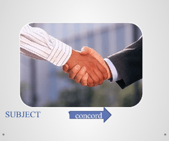 Subject – Verb Agreement (Concord)