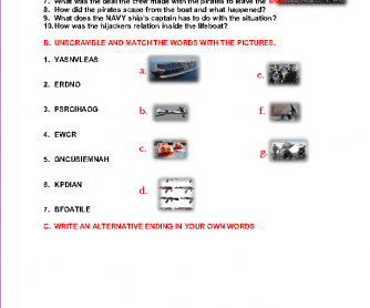 Movie Worksheet: Captain Phillips