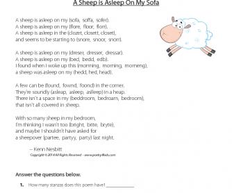 Poetry: A Sheep is Asleep on My Sofa