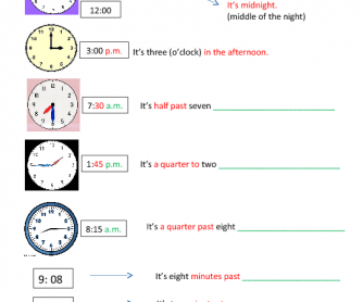 Time Worksheets time worksheets quarter past : Telling Time