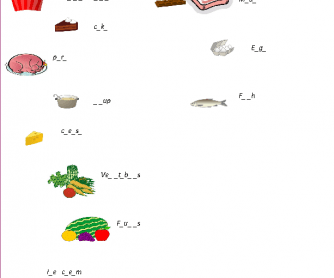 Vocabulary Related to Food