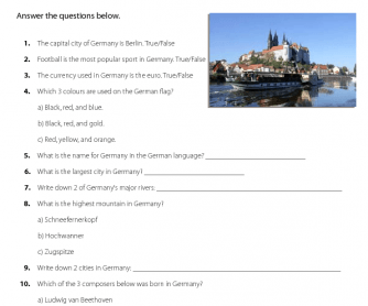 General Knowledge Quiz on Germany