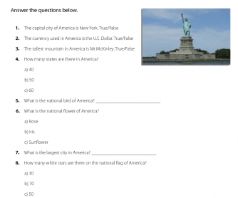 General Knowledge - Quiz on America