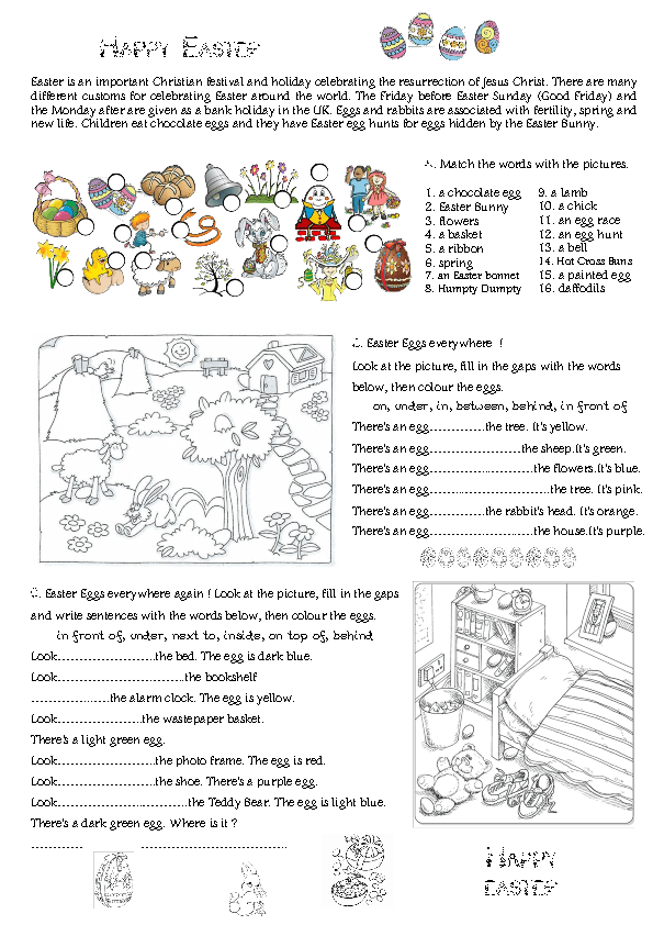 67 FREE Easter Worksheets Printables Coloring Pages Lesson Ideas – Worksheet Ideas