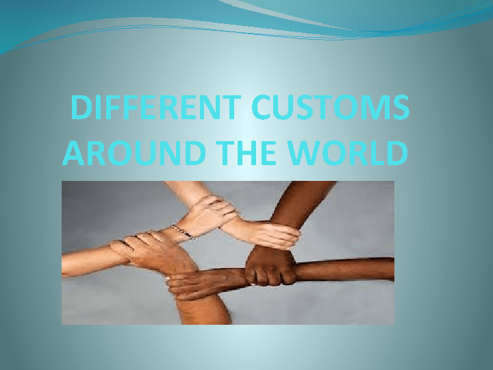 customs from around the world