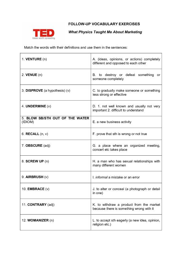 Mechanics Formula Sheet
