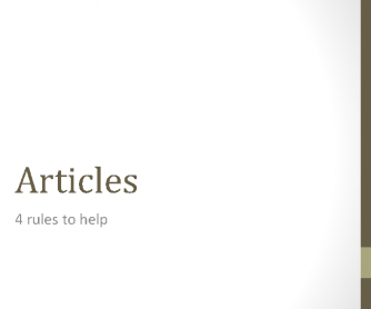 The Articles (PPT)