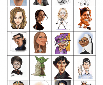 Who Am I Caricatures (Flashcards)