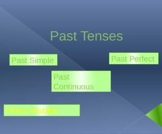 Past Tense Presentation