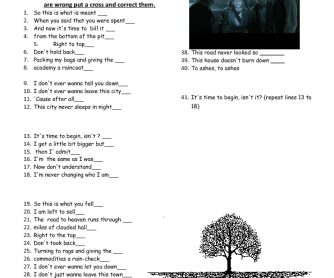 Song Worksheet: It's Time by Imagine Dragons