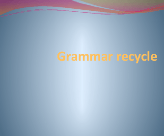 Grammar Recycle