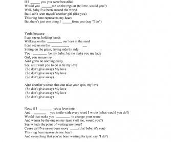 Song Worksheet: My Love by Justin Timberlake