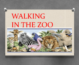 Song Worksheet: Walking in the Zoo - Puzzle
