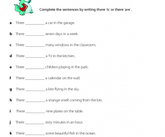 English Worksheet - There Is or There Are (3)