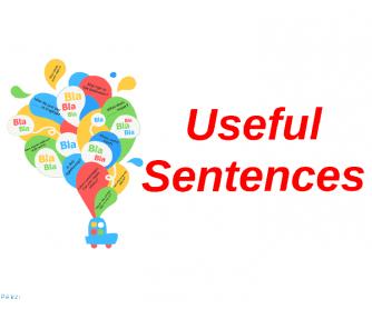 Useful Sentences