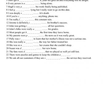 Adjectives for Feelings 2