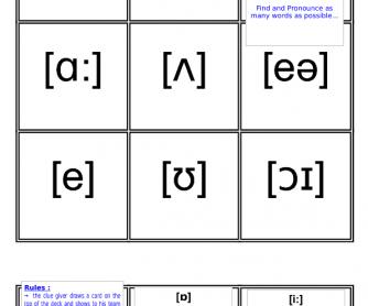 Phonetics Card Game