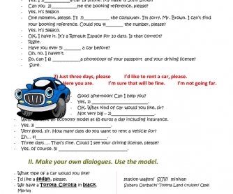 Hello, I Would Like to Rent a Car (Part II)