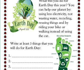 The Earth Day Challenge