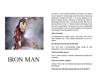 Answering WH-Questions - Iron Man