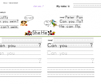 Can You...? Interview Worksheet