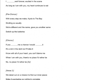 Song Worksheet: Rather Be by Clean Bandit