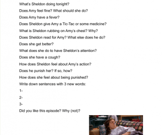 Movie Worksheet: Health Problems ( Big Bang Theory)