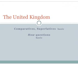 Comparing Landscapes in UK