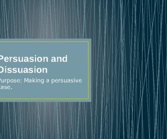 Persuasion and Dissuasion