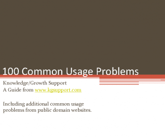 100 Common Usage Problems PowerPoint